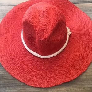 Free People red straw hat